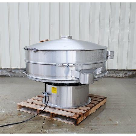 Image THERMAL ENGINEERING OF ARIZONA Single Deck Shaker Screen Vibratory Separator - Stainless Steel, 60in Dia.  1464948