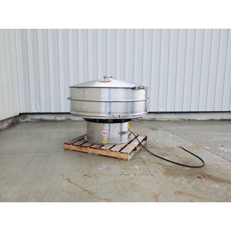 Image THERMAL ENGINEERING OF ARIZONA Single Deck Shaker Screen Vibratory Separator - Stainless Steel, 60in Dia.  1464949