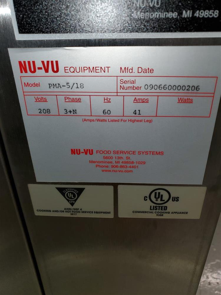 Image NU-VU Electric Convection Oven - New 1464969