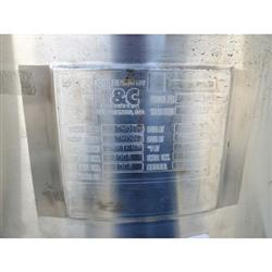 Image 85 Gallon T&C STAINLESS INC. Portable Liquid Tank - 316 Stainless Steel 1465051