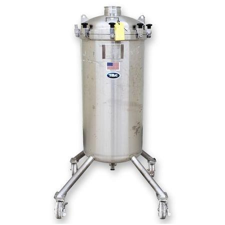 Image 85 Gallon T&C STAINLESS INC. Portable Liquid Tank - 316 Stainless Steel 1465104