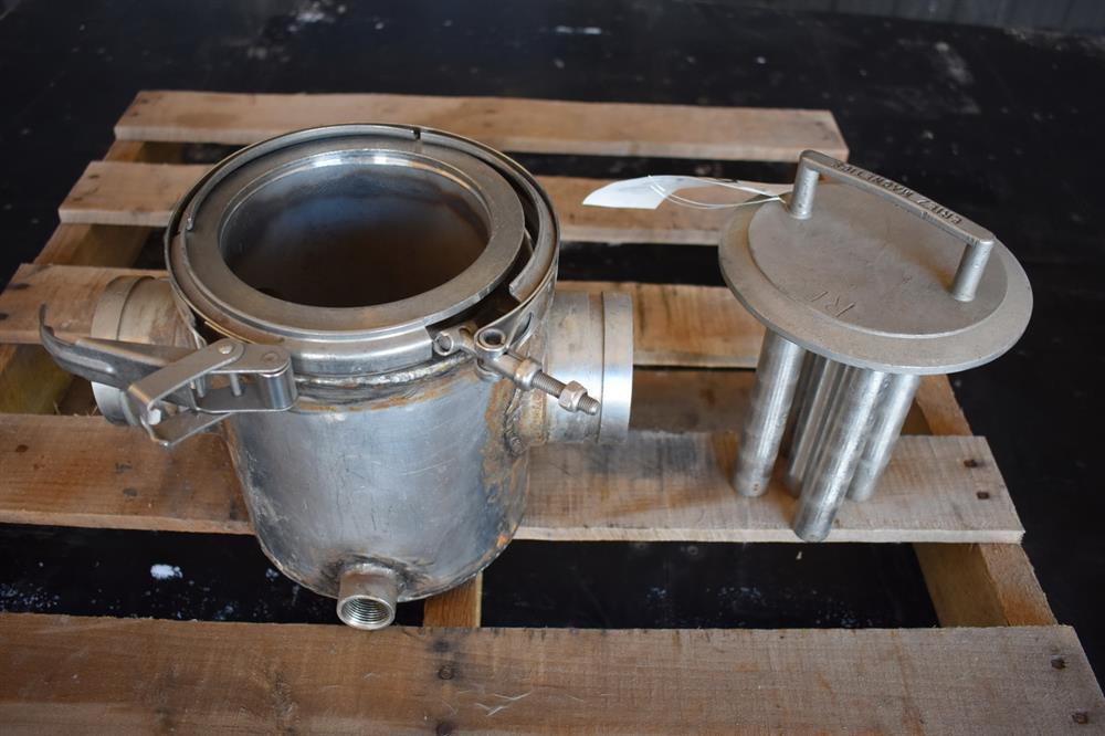 Image 3in ERIEZ MAGNETICS Jacketed Magnet Trap - Stainless Steel 1465182