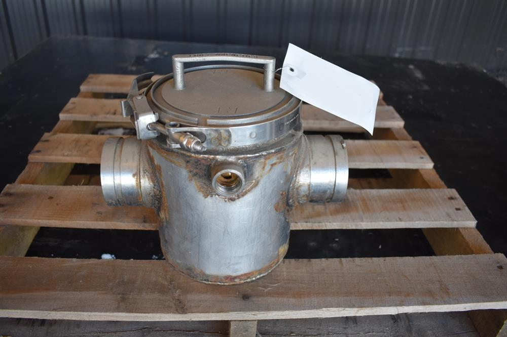 Image 3in ERIEZ MAGNETICS Jacketed Magnet Trap - Stainless Steel 1465176