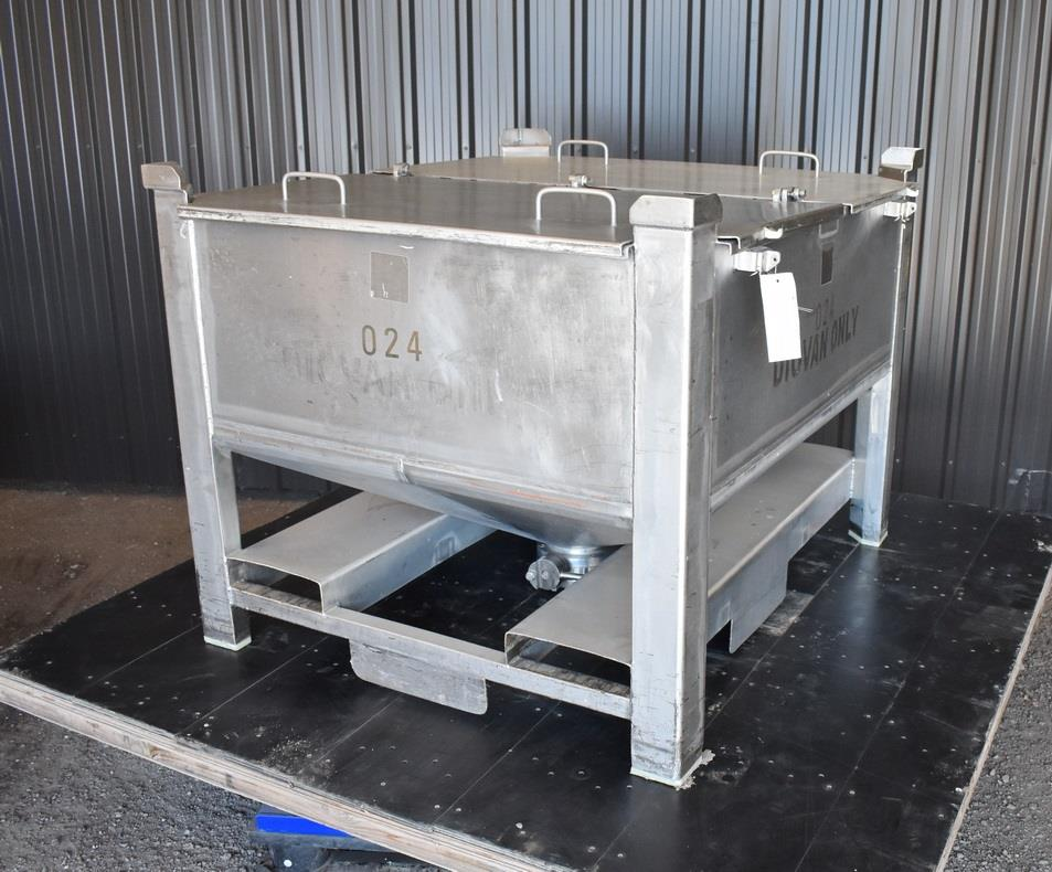 Image 200 Gallon Tote / Tank - Stainless Steel, Stackable 1465228