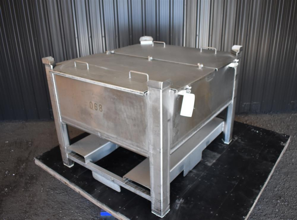 Image 200 Gallon Tote / Tank - Stainless Steel, Stackable 1465239