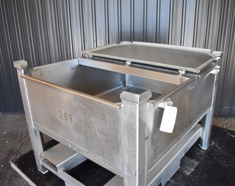 Image 200 Gallon Tote / Tank - Stainless Steel, Stackable 1465241
