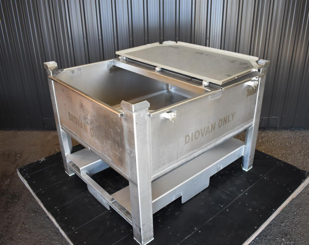 Image 200 Gallon Tote / Tank - Stainless Steel, Stackable 1465246