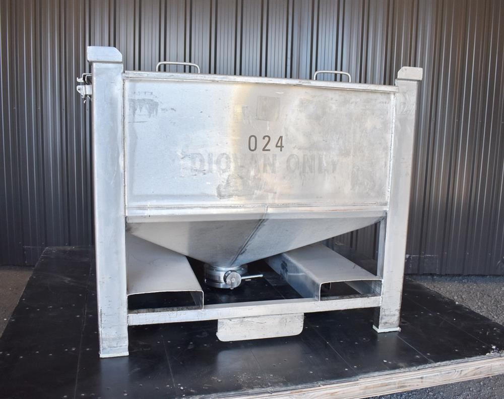 Image 200 Gallon Tote / Tank - Stainless Steel, Stackable 1465233