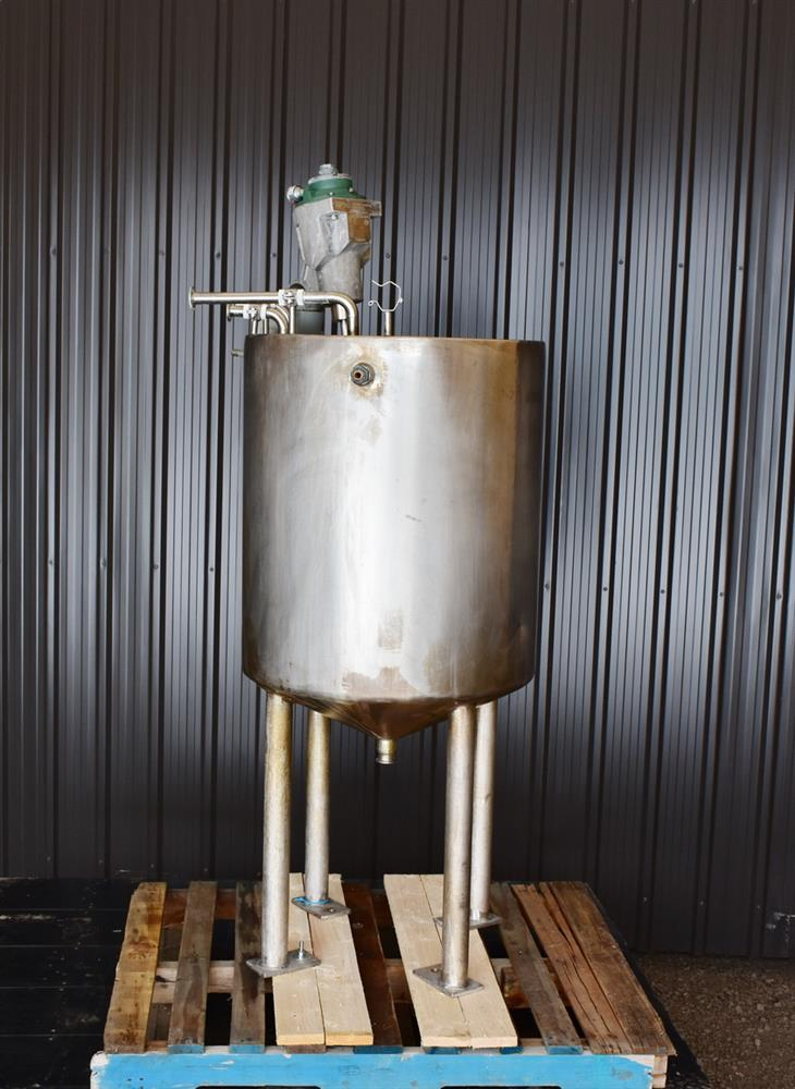 Image 70 Gallon Jacketed Tank with LIGHTNIN SPX X5P25 Mixer 1465249