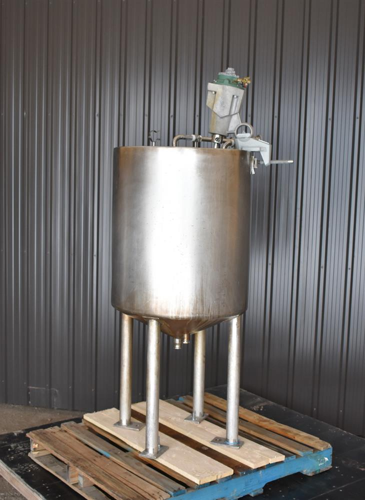 Image 70 Gallon Jacketed Tank with LIGHTNIN SPX X5P25 Mixer 1465251