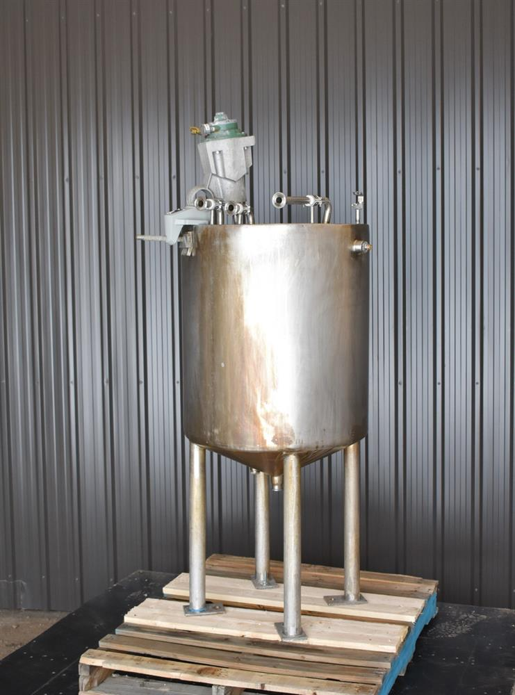 Image 70 Gallon Jacketed Tank with LIGHTNIN SPX X5P25 Mixer 1465253