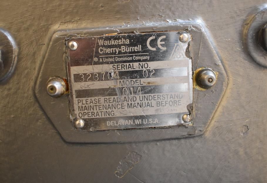 Image 100 Gallon Jacketed Tank with Scrape Agitation and WAUKESHA Pump 1465274