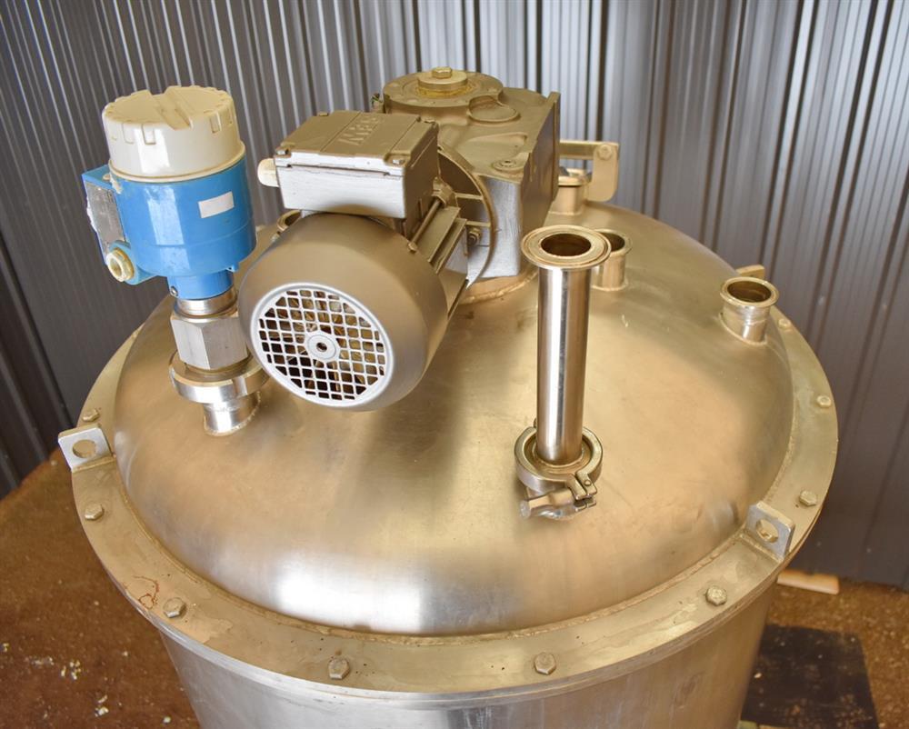 Image 100 Gallon Jacketed Tank with Scrape Agitation and WAUKESHA Pump 1465268