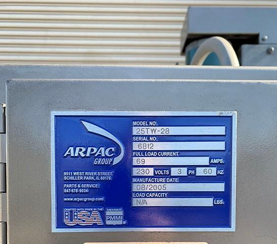 Image ARPAC 25TW-28 Shrink Wrapper Bundler with Print Registration 1465412