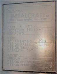 Image 400 Gallon METAL CRAFT Tank - Stainless Steel 1466012