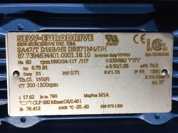 Image SEW-EURODRIVE Inverter Duty - Model SA47/T D16B/HS DRS71M4/DH, Unused 1466399