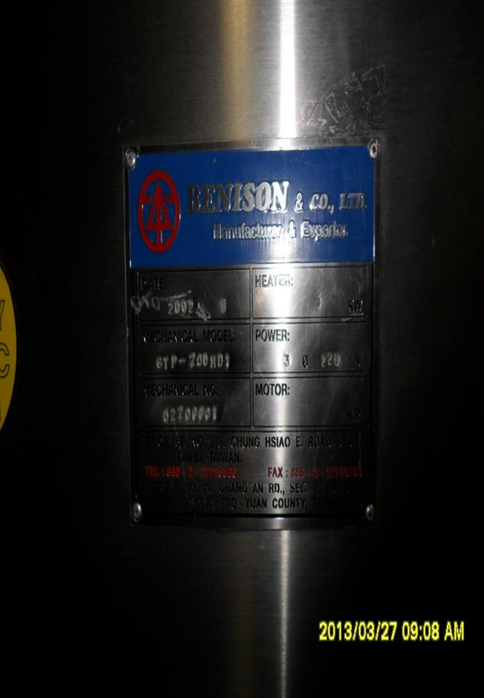 Image BENISON Heat Shrink Tunnel 1467463