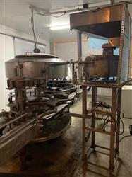 Image 14 Head CEMAC Rotary Filler with Conveyor, Accumulation Table and Labeler 1467513