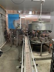 Image 14 Head CEMAC Rotary Filler with Conveyor, Accumulation Table and Labeler 1467518