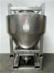 Image 1800 Liter LB BOHLE IBC Powder Blending Tank with Pneumatic Bottom Valve - Stainless Steel  1467909