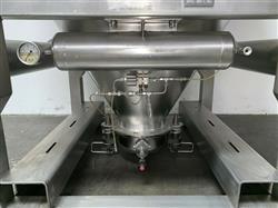 Image 1800 Liter LB BOHLE IBC Powder Blending Tank with Pneumatic Bottom Valve - Stainless Steel  1467912