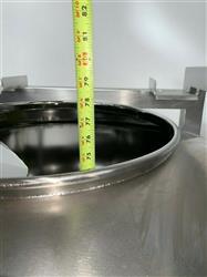 Image 1800 Liter LB BOHLE IBC Powder Blending Tank with Pneumatic Bottom Valve - Stainless Steel  1467914