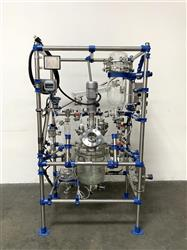 Image Glass Distillation Skid with 16 Liter Jacketed Glass Reactor & Mixer 1467986