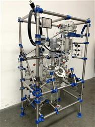 Image Glass Distillation Skid with 16 Liter Jacketed Glass Reactor & Mixer 1467987
