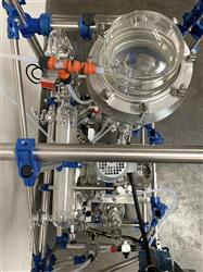 Image Glass Distillation Skid with 16 Liter Jacketed Glass Reactor & Mixer 1467995
