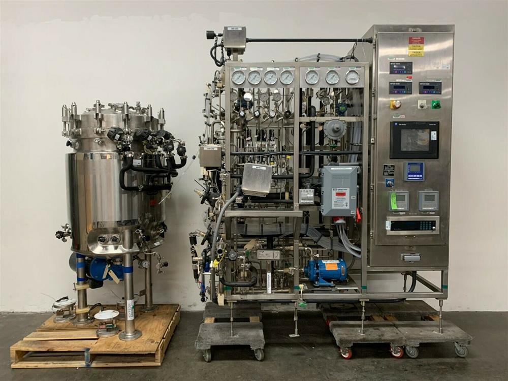 Image 300 Liter LEE Jacketed Bioreactor Skid with LEE INDUSTRIES Reactor - Stainless Steel 1483671