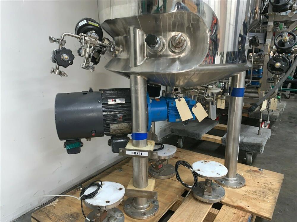 Image 300 Liter LEE Jacketed Bioreactor Skid with LEE INDUSTRIES Reactor - Stainless Steel 1483679