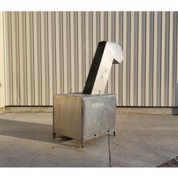 Image 12in W Cleated Incline Belt Conveyor - Stainless Steel 1469550