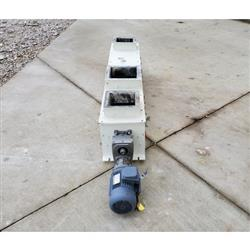 Image 9in Dia. WAM INC. Mild Steel Center Discharge Screw Feeder Conveyor 1469655