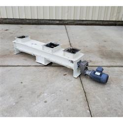 Image 9in Dia. WAM INC. Mild Steel Center Discharge Screw Feeder Conveyor 1469656