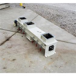 Image 9in Dia. WAM INC. Mild Steel Center Discharge Screw Feeder Conveyor 1469658