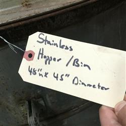 Image Hopper Bin - Stainless Steel 1469992