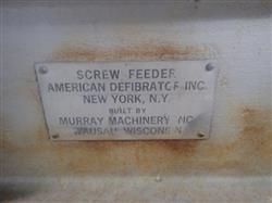 Image AMERICAN DEFIBRATOR Screw Feeder - 16in X 20in Opening 1473684
