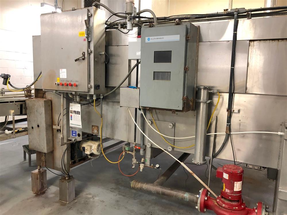 Image SJI Bottle Warmer / Cooling Tunnel - 8ft X 28ft, Stainless Steel 1474538