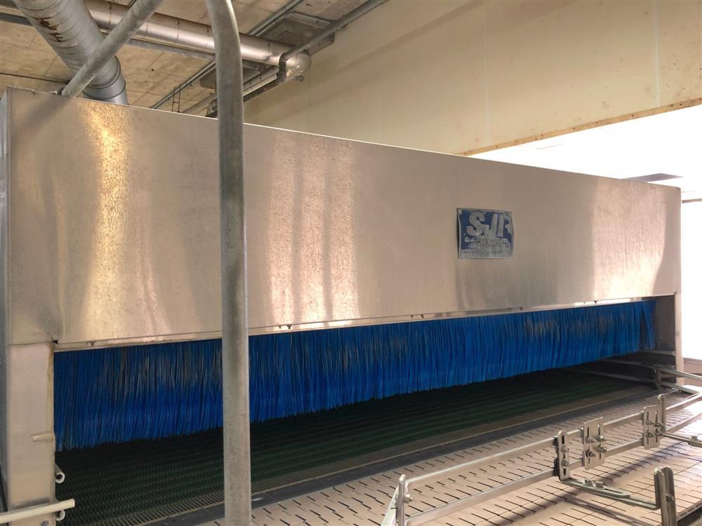 Image SJI Bottle Warmer / Cooling Tunnel - 8ft X 28ft, Stainless Steel 1474541