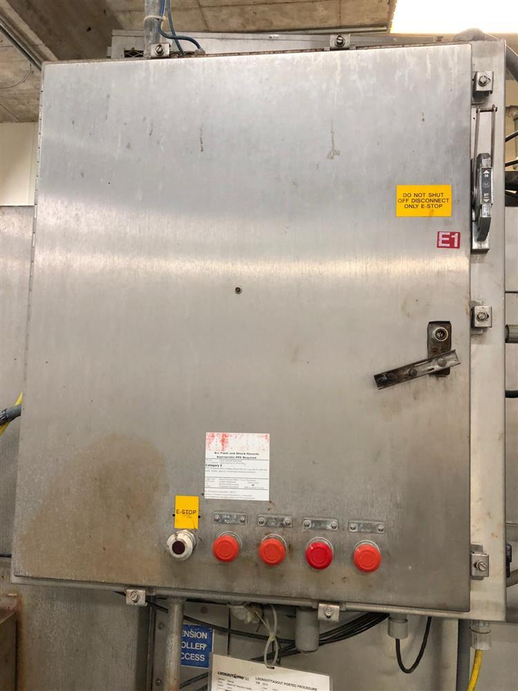 Image SJI Bottle Warmer / Cooling Tunnel - 8ft X 28ft, Stainless Steel 1474543