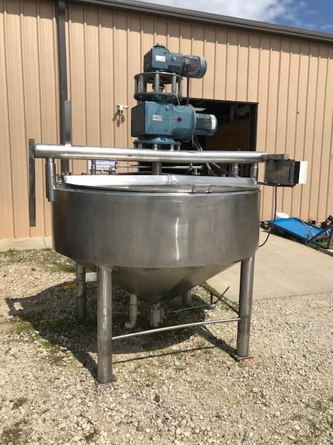 Image 500 Gallon APV CHESTER JENSEN Jacketed Scrape Double Motion Kettle - Stainless Steel  1474709