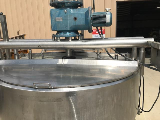 Image 500 Gallon APV CHESTER JENSEN Jacketed Scrape Double Motion Kettle - Stainless Steel  1474712