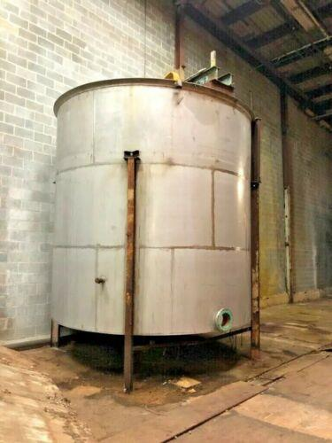Image 10,000 Gallon Open Top Mixing Tanks with Cone Bottom - Stainless Steel 1474752