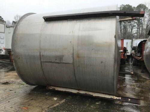 Image 10,000 Gallon Open Top Mixing Tanks with Cone Bottom - Stainless Steel 1474753
