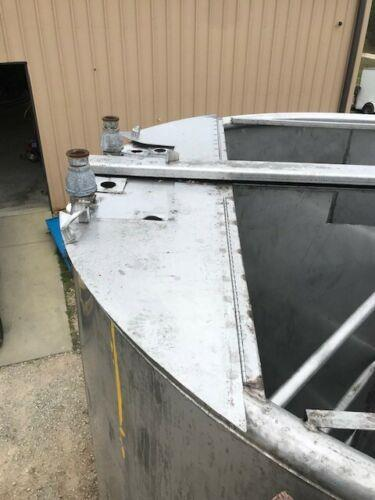 Image 6000 Gallon Heavy Duty Vertical Tank On Legs with Cone Bottom - Stainless Steel  1474765