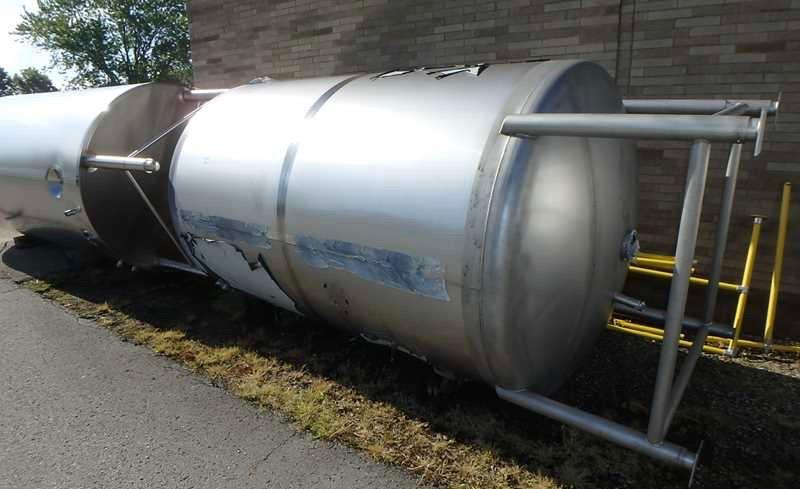 Image 2000 Gallon SANIMATIC Vertical Storage Tank - Stainless Steel, New 1474789