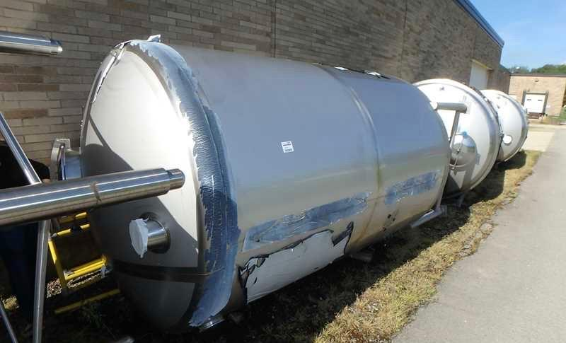 Image 2000 Gallon SANIMATIC Vertical Storage Tank - Stainless Steel, New 1474792