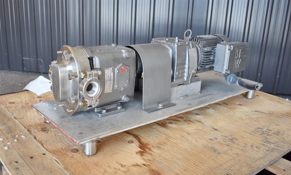 Image WAUKESHA Rotary Lobe Pump - Model 15, Stainless Steel 1474918
