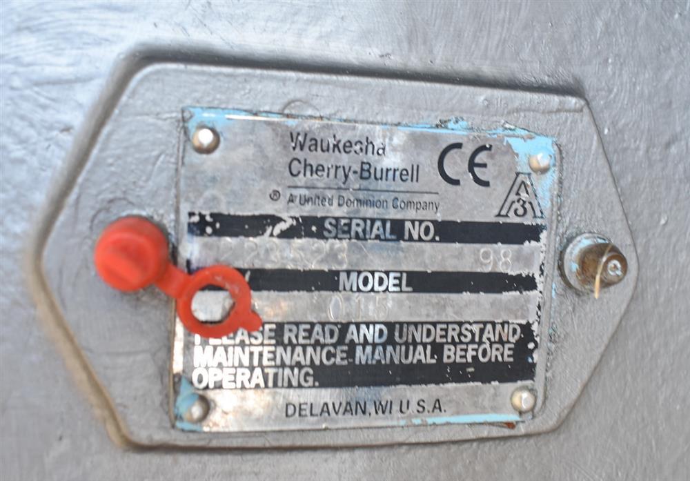 Image WAUKESHA Rotary Lobe Pump - Model 15, Stainless Steel 1474922