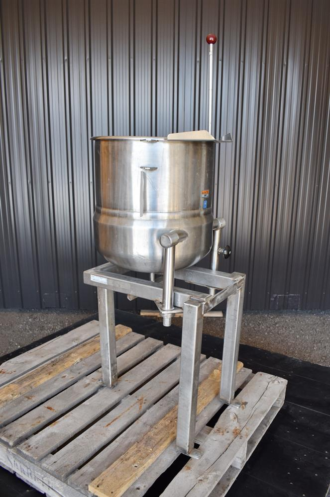 Image 12 Gallon Jacketed Tilting Kettle - Stainless Steel 1474944